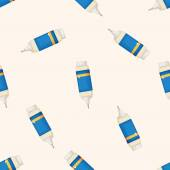 Correction Fluid , cartoon seamless pattern background — Stock Vector
