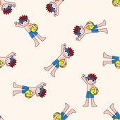 Swimmer , cartoon seamless pattern background — Stock Vector