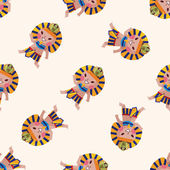 Pharaoh , cartoon seamless pattern background — Stock Vector