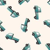 Truck , cartoon seamless pattern background — Stock Vector