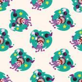 Circus theme clown , cartoon seamless pattern background — Stock Vector