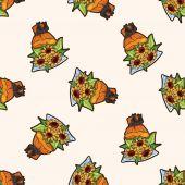 Flower bouquet , cartoon seamless pattern background — Stock Vector