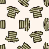 Prison garb , cartoon seamless pattern background — Stok Vektör