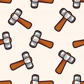 Work tool hammer , cartoon seamless pattern background — Stock Vector