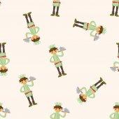 Chef , cartoon seamless pattern background — Stock Vector