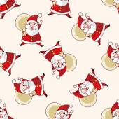Santa claus , cartoon sticker icon — Stock Vector