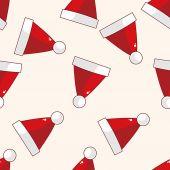 Christmas hat , cartoon sticker icon — Stock Vector