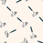 Barbecue equipment clip and fork , cartoon sticker icon — Stock Vector