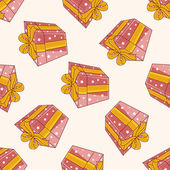 Birthday presents , cartoon sticker icon — Stock Vector