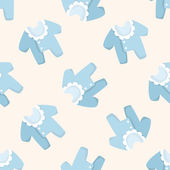Baby clothes ,seamless pattern — Stock Vector