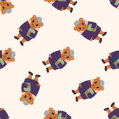 Bear cartoon ,seamless pattern — Stock Vector