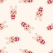 Animal rabbit summer cartoon ,seamless pattern — Stock Vector