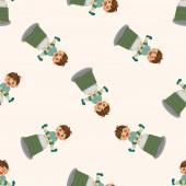 Student cartoon ,seamless pattern — Stock Vector