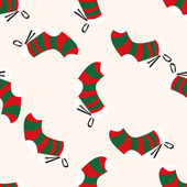 Christmas decorating socks icon 10,seamless pattern — Stock Vector