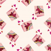 Valentine's day love letter icon 10,seamless pattern — Cтоковый вектор