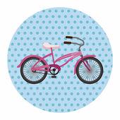 Bicycle cartoon design elements vector — Stock Vector