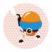 Bizarre robot flat icon elements background,eps10 — Stock Vector