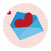 Valentine's day love letter flat icon elements background,eps10 — Stock Vector