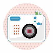 Camera theme elements vector,eps — Stock Vector