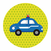 Transportation police car theme elements vector,eps — Vector de stock