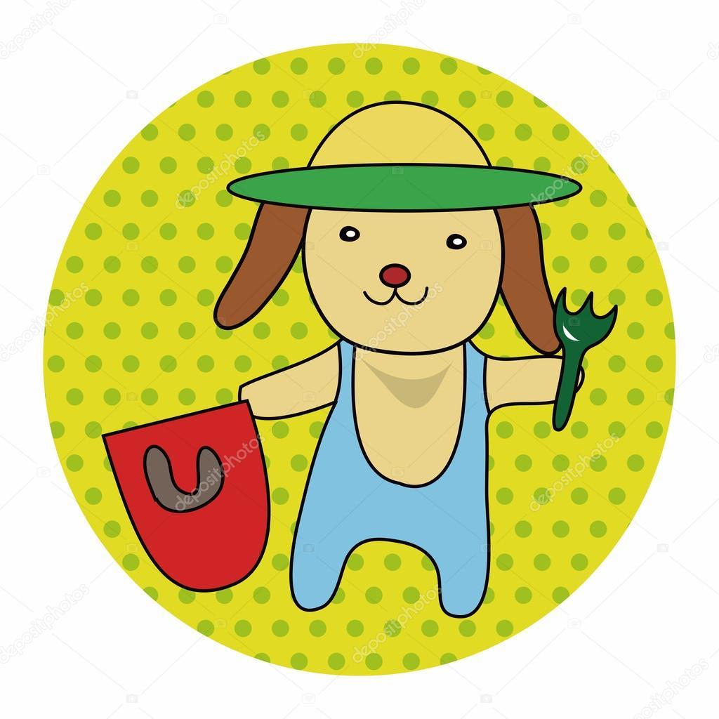 动物狗夏天卡通主题元素