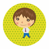 Business people character theme elements vector,eps — Stock vektor