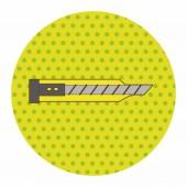 Stationary utility knife theme elements vector,eps — Vector de stock
