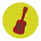 Music guitar theme elements vector,eps — Stock Vector