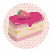 Decorazione torta tema elementi vector, eps10 — Vettoriale Stock