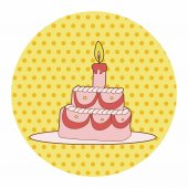 Cake theme elements vector,eps — Stock Vector