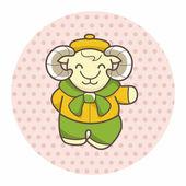 Animal goat winter cartoon theme elements — Stock Vector