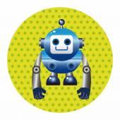 Robot cartoon theme elements vector,eps — Stock Vector