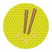 Tableware chopsticks theme elements vector,eps — Stock Vector