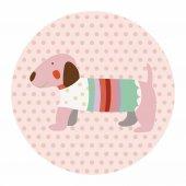 Animal dog cartoon theme elements — Stock Vector