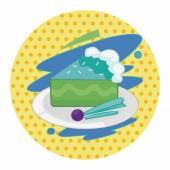 Decorating cake flat icon elements background,eps10 — Stock Vector