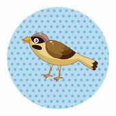 Bird cartoon theme elements vector,eps — Stock Vector