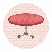 Furniture theme table desk elements vector,eps — Stock Vector
