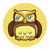 Owl cartoon theme elements vector,eps — Stock Vector