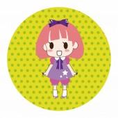 Girl cartoon theme elements vector,eps — Stock Vector
