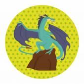 Dragon theme elements — Stock Vector