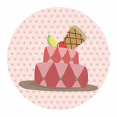 Decorating cake theme elements vector,eps10 — Stock Vector