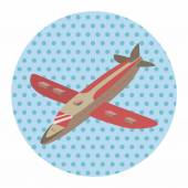 Transportation airplane theme elements — Stock Vector