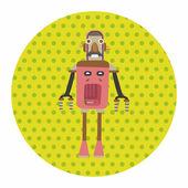 Robot theme elements vector,eps — Stock Vector