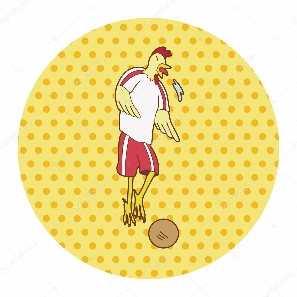 动物踢足球卡通主题元素