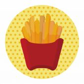 Fried foods theme french fries elements — Stock Vector