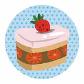 Decorating cake theme elements — Stock Vector
