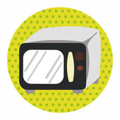 Home appliances theme microwave elements — Stock Vector