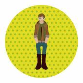 Boy man cartoon theme elements — Stock Vector