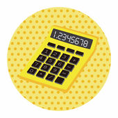Calculator theme elements — Stock Vector