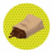 Coffee bean theme elements — Stock Vector